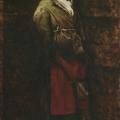 """8. Лемох Карл """"Нищенка"""" 1881 Холст, масло 52х25 Курская государственная картинная галерея"""