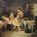 "18. Лемох Карл ""Сестрёнка"" 1890 Холст, масло 59х70 Государственный Русский музей"