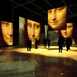 """Мультимедиа спектакль """"Леонардо да Винчи. Тайна гения"""". Предоставлено: Центр цифрового искусства Artplay Media."""