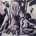 """10. Лизак Израиль """"Ссора в лесу"""" Вторая половина 1920-х Бумага, графитный карандаш, черная акварель, тушь 21х29,5 Государственный Русский музей"""