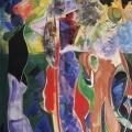 """2. Лизак Израиль """"Прогулка"""" 1920-е Холст, масло 214х131 Государственный Русский музей"""