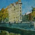 """27. Лизак Израиль """"Канал Грибоедова. Осень""""  1947"""