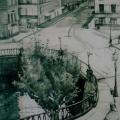 """3. Лизак Израиль """"На канале (Улица Римского-Корсакова)"""" 1923 Картон, белила, уголь, черный карандаш 106х70 Государственный Русский музей"""