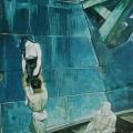 """8. Лизак Израиль """"Композиция (Утопленница). Из серии """"Улица капиталистического труда"""" 1927 Холст, масло 196х106 Государственный Русский музей"""