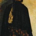 Филипп Малявин «Крестьянка, закрывающая свиткой рот» 1894 Государственная Третьяковская галерея.