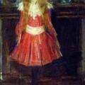 Филипп Малявин «Портрет А.С. Боткиной (Лисичка)» 1902 Государственная Третьяковская галерея.