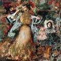 Филипп Малявин «Автопортрет с женой и дочерью» 1911 Окружная художественная галерея Ханты-Мансийск.