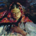Филипп Малявин «Крестьянская девушка» 1910-е Волгоградский музей изобразительных искусств имени И.И. Машкова.