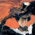 Филипп Малявин «Портрет М.К. Олив» 1922 Государственный художественный музей имени А. Н. Радищева, Саратов.