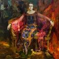 Филипп Малявин «Портрет Александры Балашовой» 1924 Частное собрание.