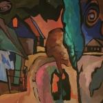 Владимир Шорц «Закат. Ваульцево. Владимирская область» 1970. Предоставлено: Галерея «Открытый Клуб».