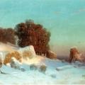"""11. Мещерский Арсений """"Зимний пейзаж"""" 1870 Частное собрание"""