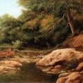 """2. Мещерский Арсений """"Горный ручей"""" 1865 Частное собрание"""