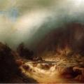 """20. Мещерский Арсений """"Река в горах Швейцарии"""" 1870-е Частное собрание"""