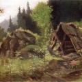 """24. Мещерский Арсений """"Шалаш в лесу"""" 1870-е Частное собрание"""