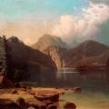 """4. Мещерский Арсений """"Горное озеро"""" 1861 Частное собрание"""