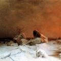"""8. Мещерский Арсений """"Ледоход"""" 1869 Государственный Русский музей"""