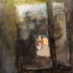 """Михаил Бабенков """"Отражение в окне. Автопортрет"""" 2020. Предоставлено автором."""