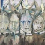 """Мика Плутицкая """"Лесной Олень. Гостьи IX"""" 2020. Предоставлено: Artwin Gallery."""