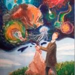 """Дарья Лазырина """"Из мешка"""". Предоставлено: Астраханская картинная галерея имени П.М. Догадина."""