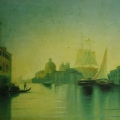 """10. Мордвинов Александр """"Вид Большого Канала в Венеции"""" Ранние 1850-е Холст, масло 35,5х52,5 Собрание В.Мандельштама"""