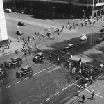 """Наум Грановский """"Улица Горького до реконструкции"""" 1938. 1960-е. Предоставлено: © Галерея Люмьер."""