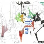 """Наташа Гончарова """"Разделяются - соединяются"""" 2020. Предоставлено: SAMPLE ART."""