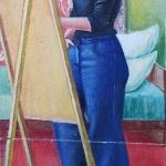"""Неизвестный художник """"Портрет художницы"""" 1979. Предоставлено: Галерея АртНаив и Artcultivator."""