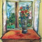 """Неизвестный художник """"Окно с вазой"""" 1989. Предоставлено: Галерея АртНаив и Artcultivator."""