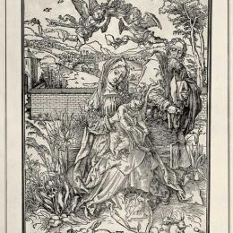 """А. Дюрер """"Святое семейство с тремя зайцами"""" 1497. Предоставлено: Краснодарский краевой художественный музей имени Ф.А. Коваленко."""