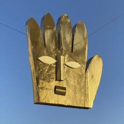 """Никита Лукьянов """"Golden mask"""". Фотография: Анисия Кузьмина. Предоставлено: Галерея SAMPLE."""