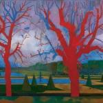 """Никита Медведев """"Красные деревья. Фонтенбло"""" 2005. Предоставлено: Российская Академия Художеств."""