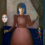 """Никита Медведев """"Портрет Лизы с маской"""" 1989–2008. Предоставлено: Российская Академия Художеств."""