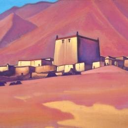 """Николай Рерих """"Чату-Гомпа. Тибет"""" 1940. Предоставлено: Государственный Русский музей."""
