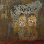 """Николай Тужилин """"Затопленная деревня"""" 1996. Предоставлено семьёй художника."""