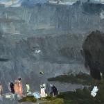 """Николай Тужилин """"На Волге"""" 1973. Предоставлено семьёй художника."""