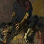 """Николай Тужилин """"Перевязывающий раны"""" 1987. Предоставлено семьёй художника."""