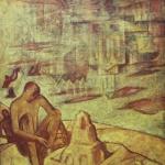"Николай Мухин ""Город на песке"" 1986-1987. Предоставлено: Музей-заповедник ""Царицыно""."