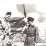 Два аса эскадрильи Нормандия Альберт Дюран и Жозеф Риссо. Фотография, 1943 год. Предоставлено: Музей Москвы.