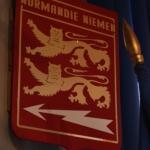 """Герб полка """"Нормандия – Неман"""". Школа №1798 """"Феникс"""". Предоставлено: Музей Москвы."""
