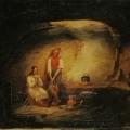 """7. Плахов Лавр """"Сцена в рыбачьей хижине"""" 1836 Холст, масло 43,5х58,5 Государственный Русский музей"""