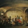 """8. Плахов Лавр """"Кучерская Академии художеств"""" 1834 Холст, масло 73x111 Национальный Художественный музей, Рига"""