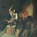 "12. Плахов Лавр ""Кузница"" 1845 Холст, масло 65х53 Государственный Русский музей"