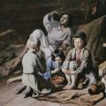 """15. Плахов Лавр """"Мальчики, пускающие мыльные пузыри"""" 1846 Холст, масло 59х97 Государственный Русский музей"""
