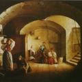 """20. Плахов Лавр """"Подвал в Академии художеств"""" 1836(?) Холст, масло 26,5х34,5 Тюменский музей изобразительных искусств"""