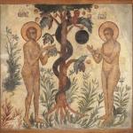 Грехопадение Адама и Евы. Предоставлено: Государственный музей архитектуры имени А.В. Щусева.