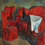 """Роберт Фальк """"Красная мебель"""" 1920. Собрание: Государственная Третьяковская галерея. Предоставлено: Государственная Третьяковская галерея."""