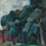 """Роберт Фальк """"Пейзаж с высокими деревьями"""" 1920. Собрание: Государственная Третьяковская галерея. Предоставлено: Государственная Третьяковская галерея."""