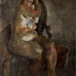 """Роберт Фальк """"Обнаженная в кресле"""" 1922–1923. Собрание: Государственная Третьяковская галерея. Предоставлено: Государственная Третьяковская галерея."""