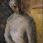 """Роберт Фальк """"Женщина в белой повязке"""" 1922–1923. Собрание: Государственная Третьяковская галерея. Предоставлено: Государственная Третьяковская галерея."""